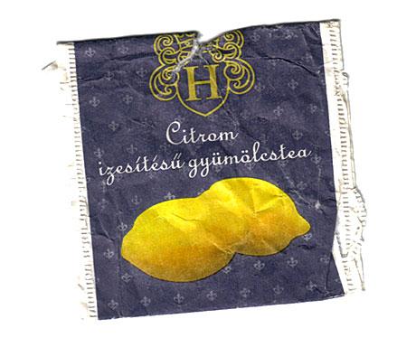 Citrom ízesítésű gyümölcstea (A fotót egy olvasó küldte)