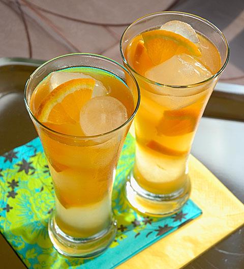 Őszibarackos jeges tea (Fotó és recept: MsTea)