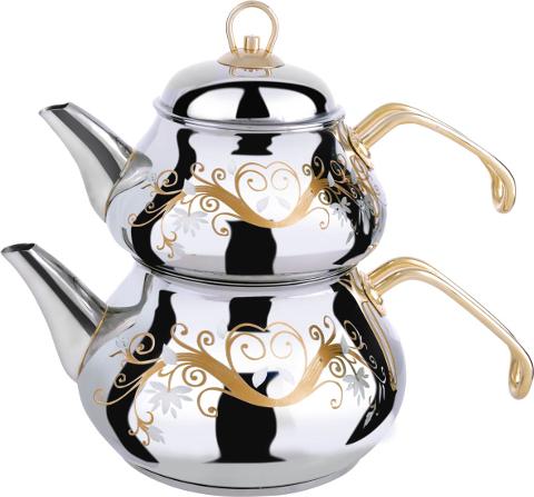 Kétrészes, török teáskanna, a çaydanlik (Fotó: foto.internetera.com)