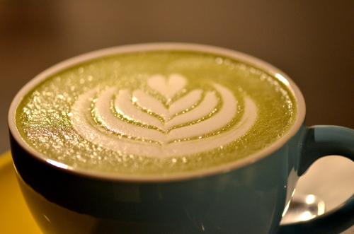 Matcha latte @ Pécsi Kávé (Fotó: MsTea)